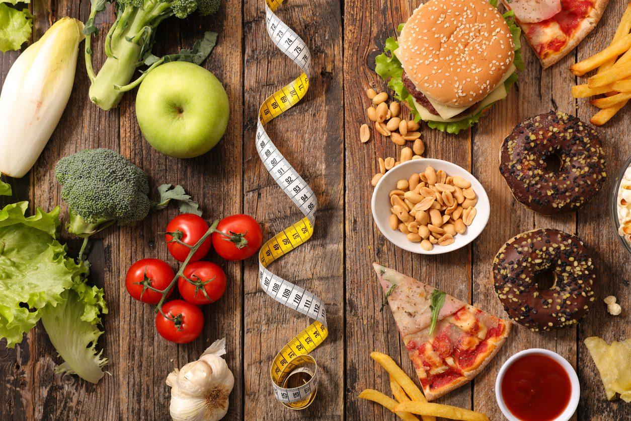 Cibi grassi e non per alimentazione sana